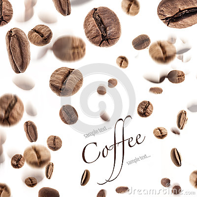 Free Flying Coffee Beans Stock Photography - 24811662