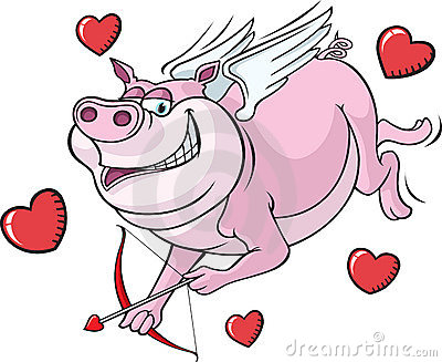 Flying Cupid Pig
