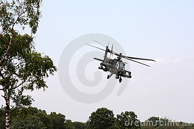 Flying dutch Apache attack helicopter