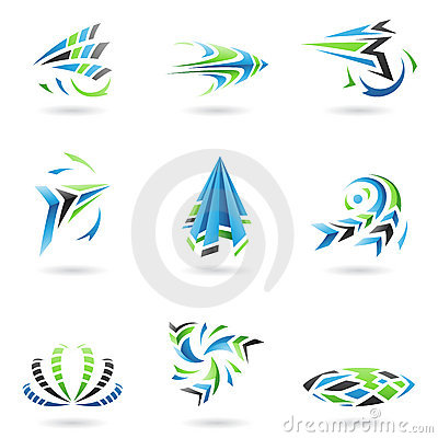 Flying Dynamic Abstract Icons