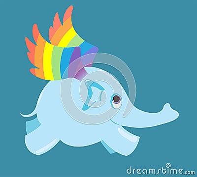 The flying elephant.