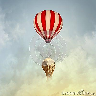 Free Flying Elephant Stock Image - 38546021