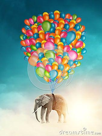 Free Flying Elephant Stock Photos - 65763583