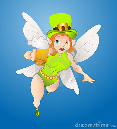Flying Fairy with Beer