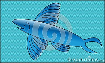 Flying fish stock illustration image 44953348 for Where do flying fish live