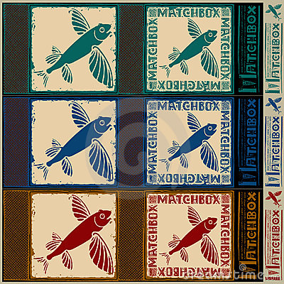 Free Flying Fish Matchbox Royalty Free Stock Images - 19433849