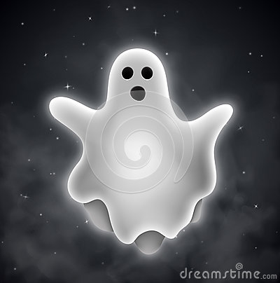 Ghost outdoors Vector Illustration