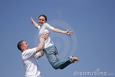 Flying Girl Royalty Free Stock Images - Image: 2604799