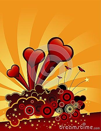 Free Flying Hearts Stock Photos - 5895213