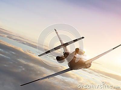 Flying jetplane