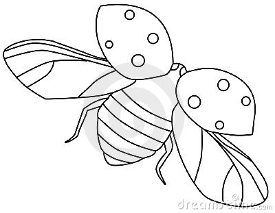 coloring pages of flying ladybugs - photo#3