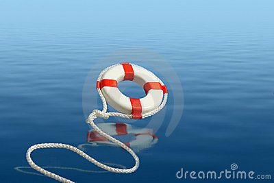 Flying life preserver for help