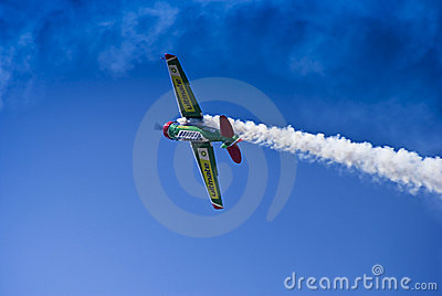 Flying Lion - ZU-BEU - Barrel Roll Maneuver Editorial Stock Photo