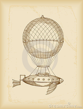 Free Flying Machine Sketch Royalty Free Stock Images - 13487209