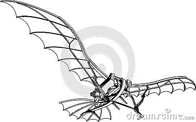 Flying Machine Vector 01