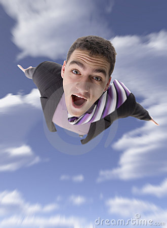 Free Flying Man Stock Image - 1776821