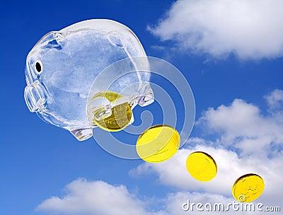 Flying moneybox