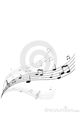Free Flying Music. Vector Royalty Free Stock Photos - 3182128