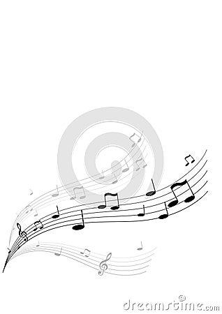 Flying music. Vector