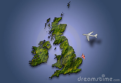 Flying over Britain