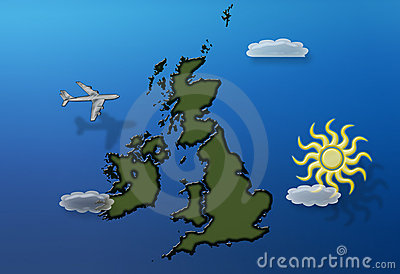 Flying over Britain summer