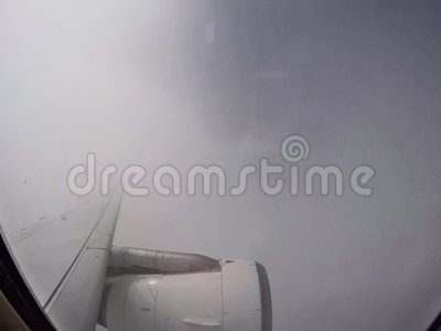 Flying over the clouds with a jet plane. stock video