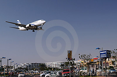 Flying Over Eilat Editorial Image