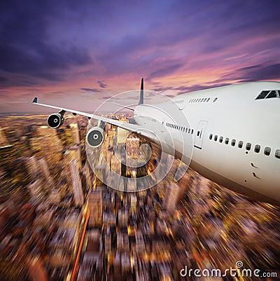 Free Flying Over NY Royalty Free Stock Photo - 6528765