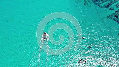 Flying over Sithonia, Halkidiki, Greece stock video