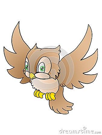 Flying Owl Stock Image - Image: 11629021