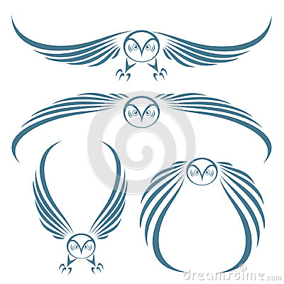 Flying owls tattoo