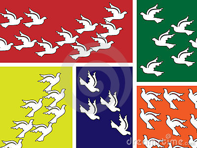 Flying peace dove banner