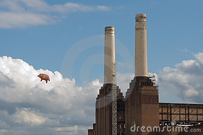 Flying pig Editorial Image