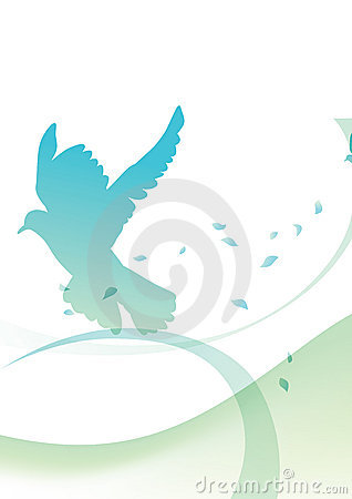 Flying pigeon silhouette