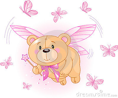 Flying Pink Teddy Bear