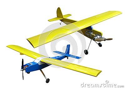 Flying plane model