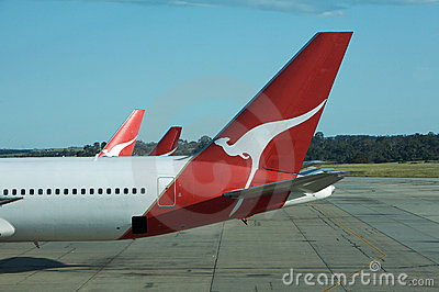 Flying Qantas  Editorial Photography
