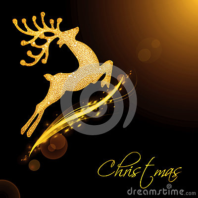 Free Flying Santa S Reindeer Stock Images - 27449504