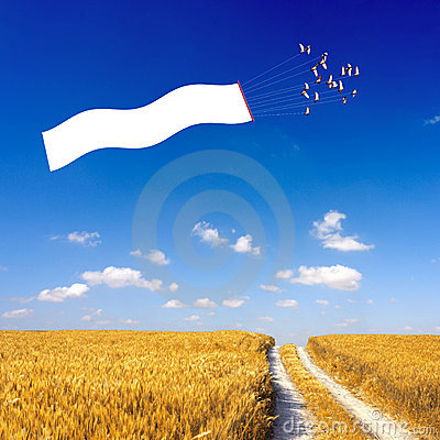 Free Flying Sign Royalty Free Stock Photography - 3204987