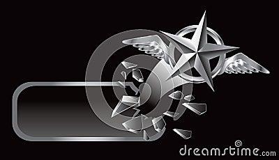 Flying silver star banner