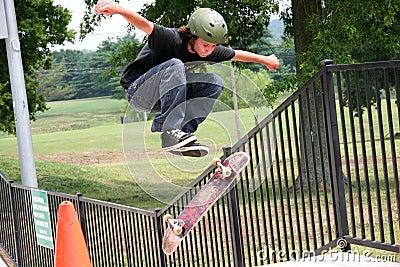 Flying Skateboarder