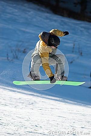Flying Snowboard man