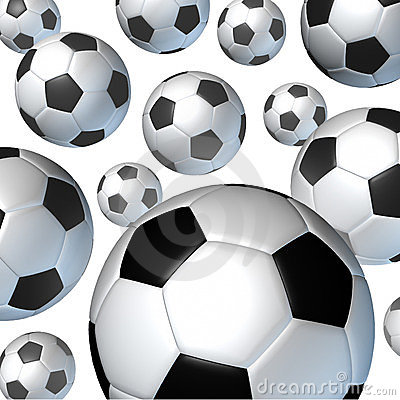 Flying Soccer Balls