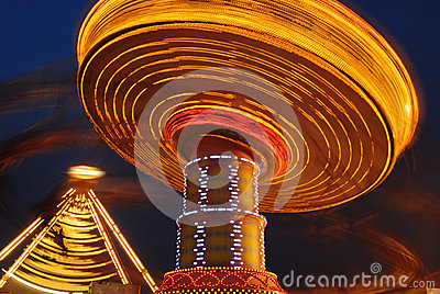 Flying swing at night