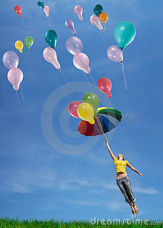 Free Flying Up In The Sky Stock Photos - 8050133
