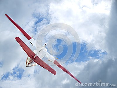 The flying up plane