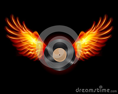 Flying Vinyl record