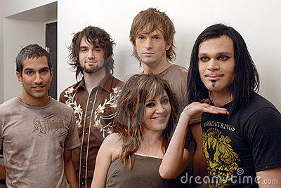 Flyleaf appearing at CD USA Editorial Photography