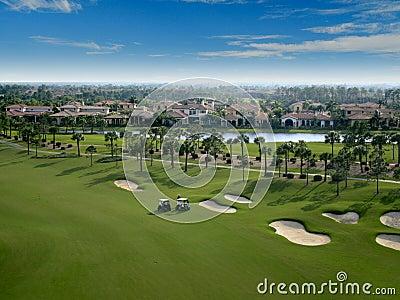 Flyover поля для гольфа Флориды