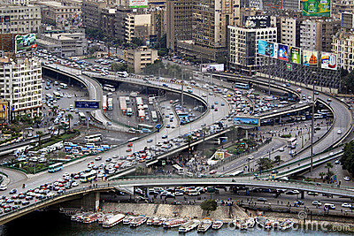 Flyover intersection Cairo Editorial Image